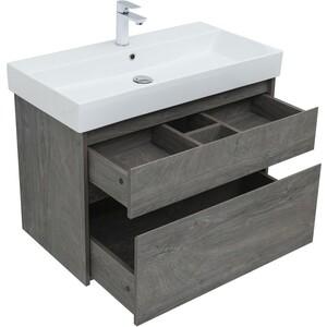 Мебель для ванной Aquanet Nova Lite 90 дуб рошелье, 2 ящика фото