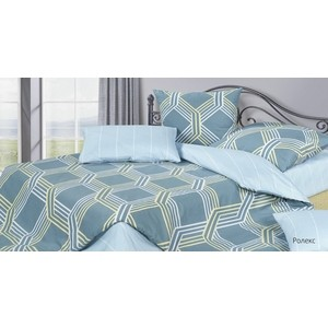Комплект постельного белья Ecotex 1,5 сп, сатин, Гармоника Ролекс (4660054344428)