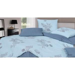 Комплект постельного белья Ecotex семейный, сатин, Гармоника Океан (4660054344411)