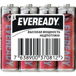 Батарейка ENERGIZER Eveready R6 AA (4 шт) 1,5V