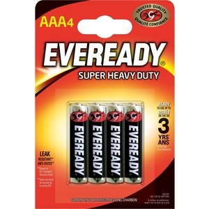 Батарейка ENERGIZER Eveready SUPER R03 AAA (4 шт) 1,5V