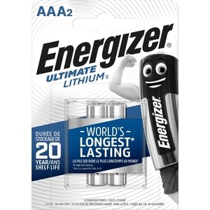 Батарейка ENERGIZER Ultimate Lithium FR03/L92 AAA (2 шт) 1,5V