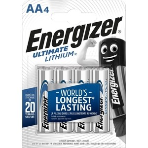 Батарейка ENERGIZER Ultimate Lithium L91 AA (4 шт) 1,5V