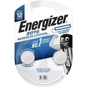 Батарейка ENERGIZER Ultimate Lithium CR 2016 3V, таблетка (2 шт)
