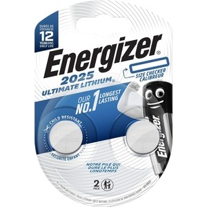 Батарейка ENERGIZER Ultimate Lithium CR 2025 3V, таблетка (2 шт)