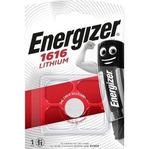 Батарейка ENERGIZER Lithium CR1616 (1 шт) 3V батарейка cr1632 energizer lithium 3v pip1 e300844101 21268