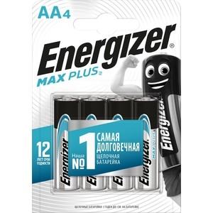 Батарейка ENERGIZER MAX PLUS LR6/E91 AA (4 шт) 1,5V батарейка aa camelion alkaline plus lr6 lr6 pb24 24 штуки