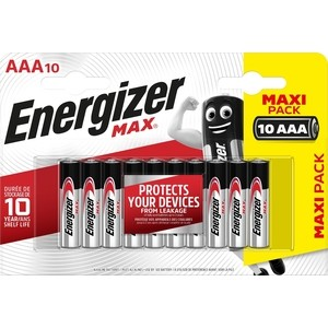 Батарейка ENERGIZER (10шт) MAX AAA/LR03 1,5V