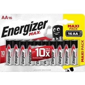 Батарейка ENERGIZER (16 шт) MAX AA/LR6 1,5V батарейка aa camelion alkaline plus lr6 lr6 pb24 24 штуки