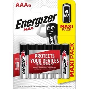 Батарейка ENERGIZER (6 шт) MAX E92/AAA1,5V