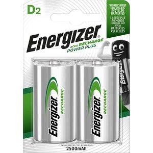 Аккумулятор ENERGIZER Power Plus NH50/D 2500 BP2 (2 шт) 1,2V