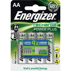 Аккумулятор ENERGIZER Power Plus NH15/AA 2000 BP4 Pre-Ch (4 шт) 1,2V