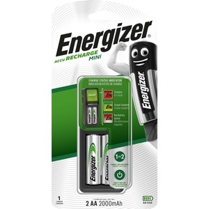 Зарядное устройство ENERGIZER Mini Eu Plug + 2AA 2000mAh