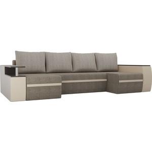 П-образный диван АртМебель Майами корфу 03/экокожа бежевый