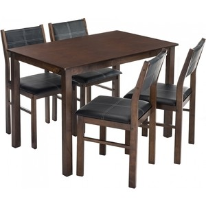 Обеденная группа Woodville Bahamas (стол и 4 стула) oak/black