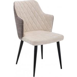 лучшая цена Стул Woodville Velen dark brown/beige fabric