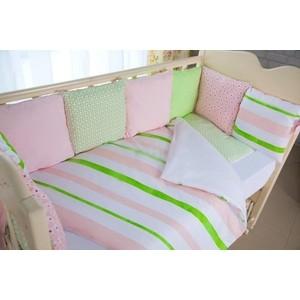 Комплект в кроватку By Twinz с бортиками-подушками 6 пр. Амелия КПБ6-АМЕЛИЯ