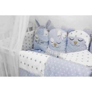 Комплект в кроватку By Twinz с игрушками Друзья голубой, 4 предм. комплект в кроватку by twinz с игрушками друзья кофейный 4 предм