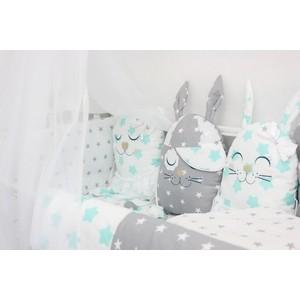 Комплект в кроватку By Twinz с игрушками Друзья мята, 4 предм. комплект в кроватку by twinz с игрушками друзья кофейный 4 предм