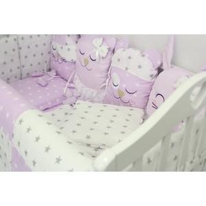 Комплект в кроватку By Twinz с игрушками Друзья розовый, 4 предм. комплект в кроватку by twinz с игрушками друзья кофейный 4 предм