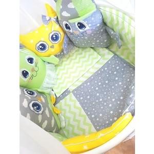 цена Комплект в кроватку By Twinz с игрушками Друзья-2 мятно-желтый, 4 предм. онлайн в 2017 году