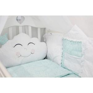 Комплект в кроватку By Twinz с игрушками Звездочка голубой, 4 предм.