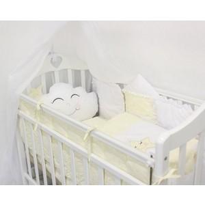 Комплект в кроватку By Twinz с игрушками Звездочка желтый, 4 предм.