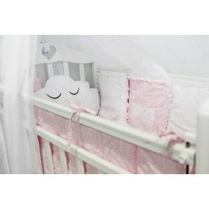 Комплект в кроватку By Twinz с игрушками Звездочка розовый, 4 предм.