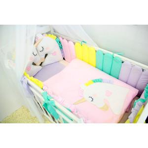 Комплект в кроватку By Twinz с игрушками 6 пр. Единороги КПБ6-Р.ЕДНРГ