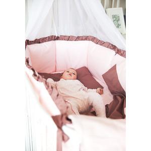 Комплект для круглой кроватки By Twinz Персики в шоколаде КПБ7-К.К.-ПЕРСИКИ
