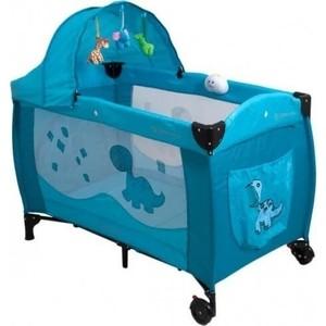 Манеж кровать Coto Baby Samba Lux Голубой 3