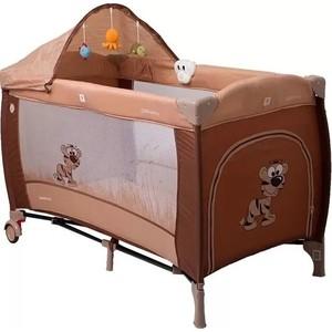 Манеж кровать Coto Baby Samba Lux Коричневый 11