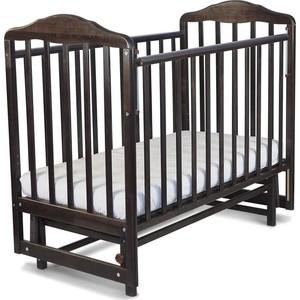 Кровать детская Malika с маятником Зебра автостенка,накладка ПВХ,венге 214008