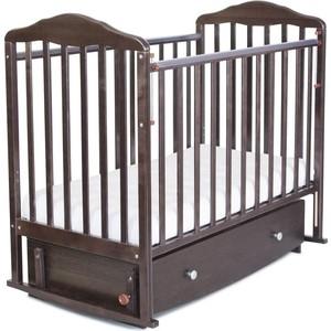 Кровать детская Malika с маятником и ящиком Зебра автостенка,попер.и прод.маятник,венге 216008/6008