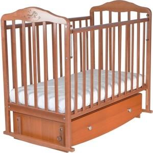 Кровать детская Malika с маятником и ящиком Зебра автостенка,попер.и прод.маятник,орех 216007/6007