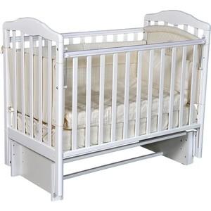 Кровать детская Антел Алита 3/5 а/с, универсальный маятник, без ящика, белый