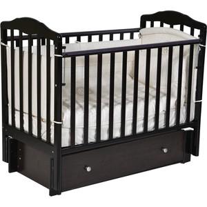 Кровать детская Антел Алита 4/6 а/с, универсальный маятник, закрытый ящик, венге