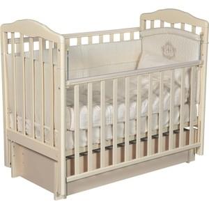 Кровать детская Антел Алита 4/6 а/с, универсальный маятник, закрытый ящик, слоновая кость цена