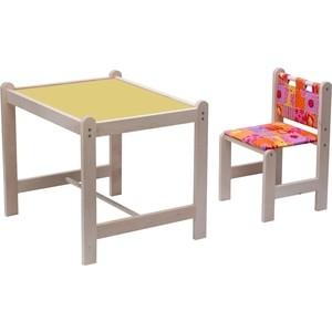 Набор детской мебели Гном Малыш-2 стол+стул Лимпопо + бежевая столешница МИ 01.02-05 набор мебели для детской мика 2