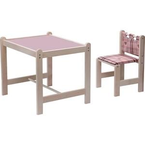 Набор детской мебели Гном Малыш-2 стол+стул Симпатия+сиреневая столешница МИ 01.02-04