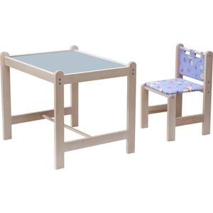 Набор детской мебели Гном Малыш-2 стол+стул Утки синие+синяя столешница МИ 01.02-01