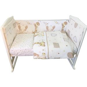 Комплект в кроватку BamBola 4 предмета АФРИКА Бязь 406