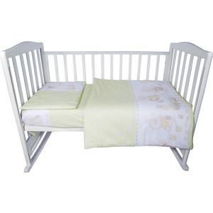 Комплект детского постельного белья BamBola МИШКА Бязь Зеленый 8