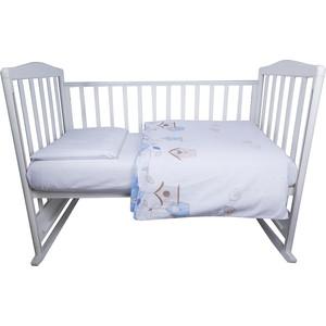 Комплект детского постельного белья BamBola ПТИЧКИ Бязь Голубой 52