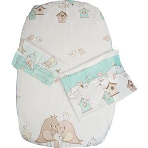 Комплект детского постельного белья BamBola ПТИЧКИ Бязь Зеленый 52