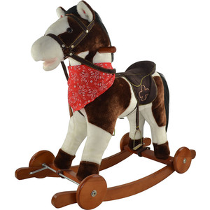 Качалка лошадка Pituso Белый с коричневым, 74*30*64см GS2030W