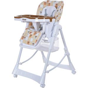 Стульчик для кормления Pituso NINO, BEIGE BROWN BEAR (МИШКИ) кор/бел LHB-009 стульчик для кормления pituso nana розовый текстиль