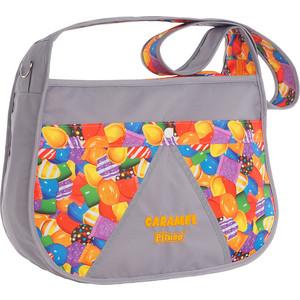 Сумка для мамы на коляску Pituso CARAMEL NEW BAG цвет серый/принт карамелька 201613