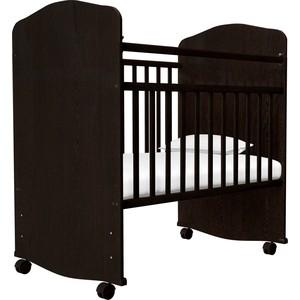 Кроватка Агат ЗОЛУШКА-8 (колесо/качалка) Шоколад 52102 цена
