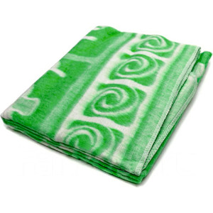Одеяло детское байковое Ермолино х/б 118*100 Зеленый 57-6ЕТ Ж